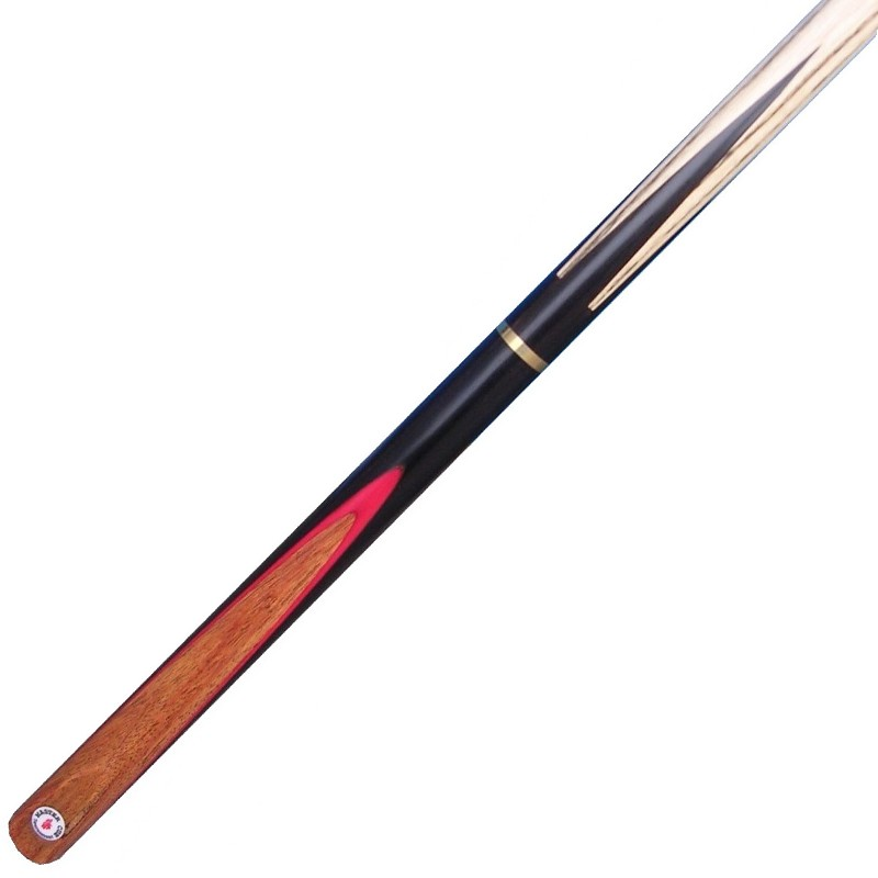 MastercueTournament butt-jointed Snooker Cue + Red veneer