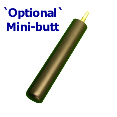 Optional mini-butt for cue