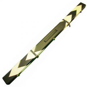 3pc White Arrow leatherette cue case