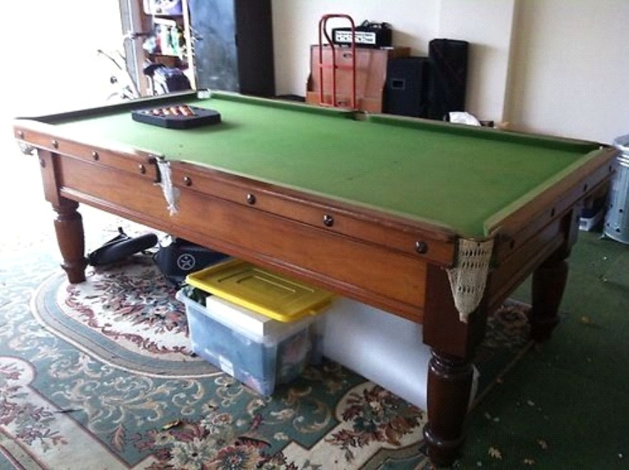 8ft x 4ft slate bed snooker table for sale for 10 foot billiard table