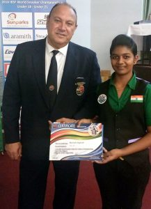 MARIAM AGNISH BECOMES WORLD NO10 IN SNOOKER