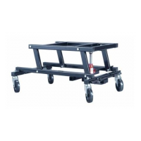 Pool table trolley - easy use.