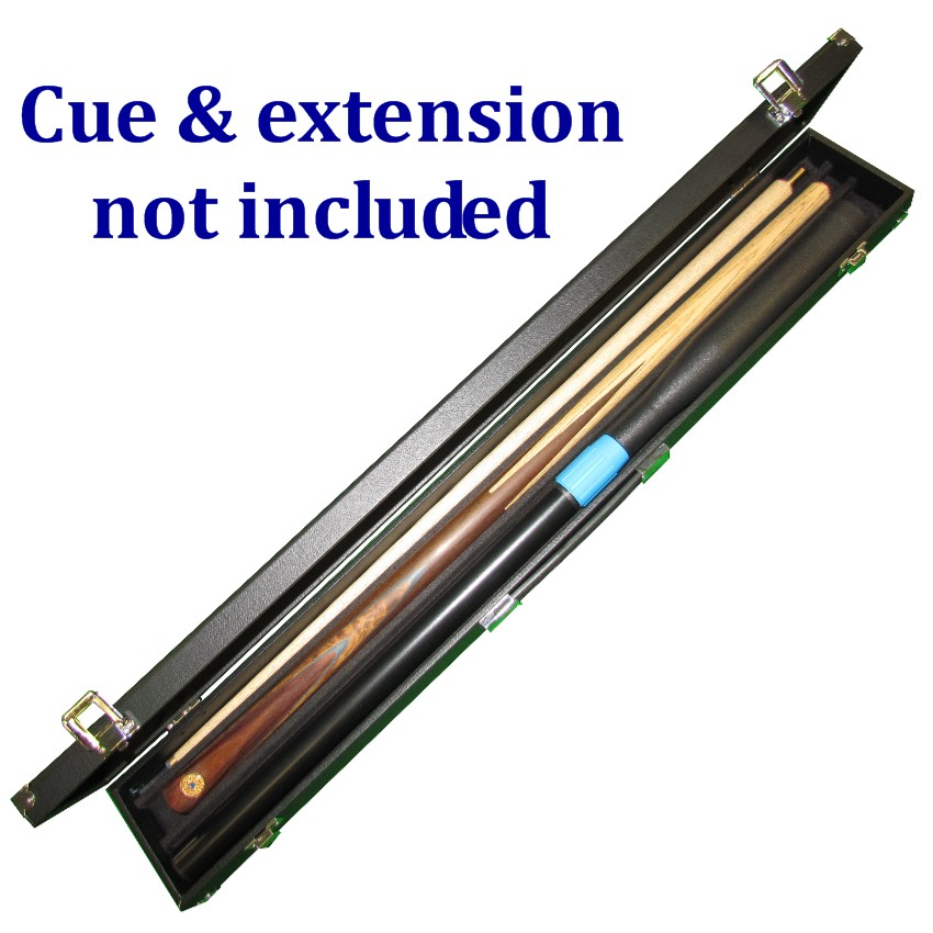 Snooker cue case for push-on cue extension
